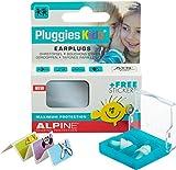 Alpine Pluggies Kids - Gehörschutz für Kleinkinder & Kinder, Gratis Namensaufkleber