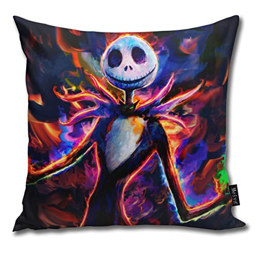 popluck Decorative Pillow Cover Nightmare Before Christmas Square Home Decor Pillowcase 18x18 Inches (Nightmare Before Christmas Party-ideen)