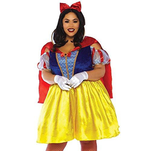 01 2 teilig Kostüm Set Märchenhaftes Schneewittchen, Damen, Mehrfarbig, Größe 1X/2X (EUR 46-50) ()
