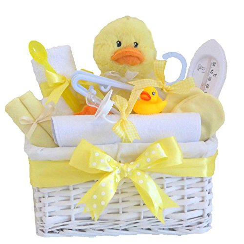Mr Ducky LARGE DELUXE Unisex Baby Gift Basket / Baby Hamper / Neutral Baby Shower / Neutral Baby Gift / Baby Shower Gift / New Arrival / Baby Keepsake / FAST DISPATCH