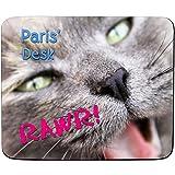 FaceOn Mouse Mats Paris 'Desk-Adorable chaton Rawr Design-personnalisé Nom Tapis de souris-Premium (5mm d'épaisseur)