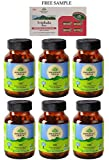 Organic India Liver Kidney Care (LKC) - 60 Veg Capsules - Pack of 6 - with Free Product Sample