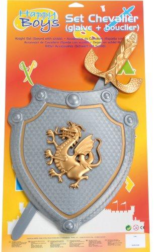 Imagen 1 de Happy Boys - Escudo y espada de juguete para disfraz de caballero para niño