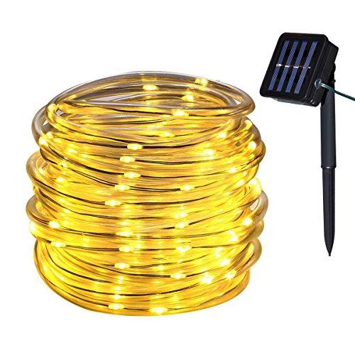 Yasolote 10M 100 LED Guirnalda de Luces Solares