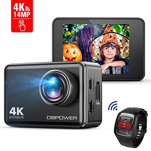 DBPOWER EX7000 Action Camera Touchscreen 4K Ultra-HD 14MP Wi-Fi,...