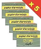 Papier d'armenie - Armenisches Papier - 5 x Briefchen von 12 Blätter 3 Streifen.