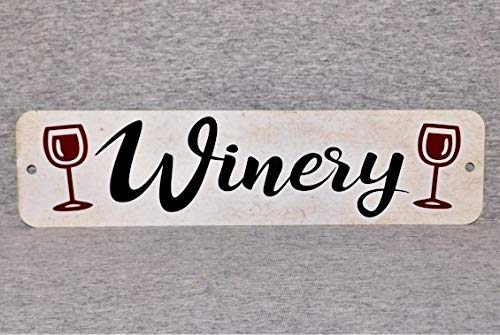 Ja242oe Metallschild Weinprobe Weingüter Weingüter Glasgläser Firma Abfüllfass Weinmacher Weingarten Weinbau Bauernhof 8 x 12 Aluminium