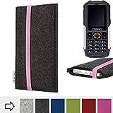 für Cyrus CM 7 Handy-Hülle Schutzcase COIMBRA mit rosa