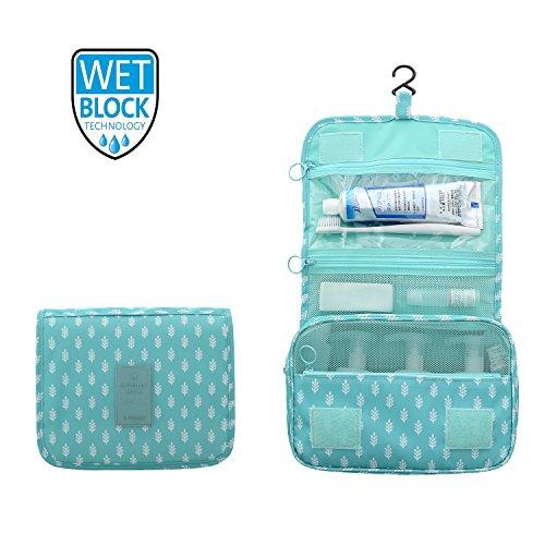 ElifeAcc Trousse de Toilette de Voyage Pliante Portable 7 litres Arbre Bleu