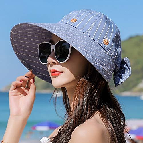 PENGXIN Sonnenhut Damen Sommer Sonnenhut UV-Schutz Winddicht Sonnenschutzhut Reisewild Cooler Hut -