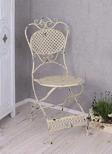 PALAZZO INT Metallstuhl Antik Stuhl Shabby Chic Gartenstuhl