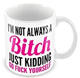 I'm Not Always A Bitch Pink Funny Rude Novelty Gift 11oz Mug