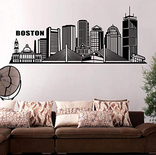 Kssim Amerika Gebäude Boston Stadt Wandaufkleber Große Wohnkultur Wohnzimmer Selbstklebende Aufkleber Für Schlafzimmer Zubehör 45 * 107 Cm