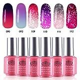 Perfect Summer Brand Pick 6PCS Gel Nail Polish Set Soak Off Color Changing Gel Varnish Starter Kits UV LED Manicure Collection 05