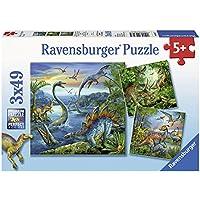 Ravensburger 09317 - Puzzle Enfant Classique - La Fascination des Dinosaures - 3 x 49 Pièces