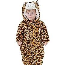 MissFox Kigurumi Pijama Unisexo, Traje animal Disfraz de Cosplay Halloween para Niños Niña Bebé