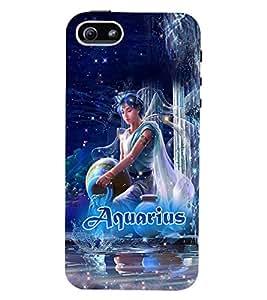 PRINTVISA Zodiac Aquarius Case Cover for Apple iPhone 4