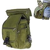 Fontic 15x13x28cm Multi-funktion Wasserdicht Hüfttasche Beintasche aus Nylon 600Dx900,Sport Taktische Airsoft Militär Tropfen Bein Schenkel Bag Dienstprogramm Gürtel Tasche Beinbeutel