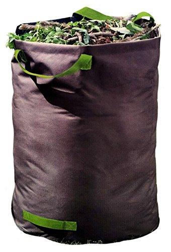 *Hub 100 Liter Gartenabfallsack, Laubsack für Gartenabfälle bis 60 Kg, reißfest, 60 x 50cm mit Tragegriff*