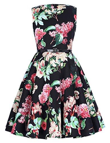 Retro Ballkleid Partykleid Abendkleid 10-11 jahre (70er Mädchen Kostüme Jahre)