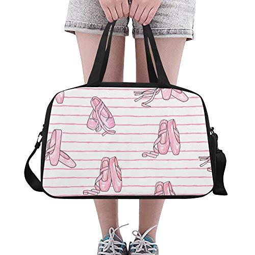 Plosds Schuh Impressum Muster Große Yoga Gym Totes Fitness Handtaschen Reise Seesäcke Schultergurt Schuhbeutel für die Übung Sport Gepäck für Mädchen Männer Frauen Outdoor