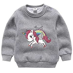 Niñas Unicornio Sudaderas de Vellón
