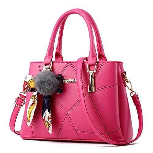 CengBao Ms. pacchetti coreano in autunno e inverno nuova donna pacchetto è semplice ed elegante borsa tracolla di tendenza un cross-killer pacchetto, m bianco Il rosso ricamato linea foulard di seta
