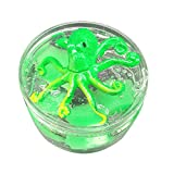 Lyme-Schlamm Halloween Schädel Oktopus Halloween-Krake-Farben, die Wolken-Schlamm-Kitt-duftenden Druck-Kinder-Lehm-Spielzeug mischen Sisit (Mehrfarbig D)