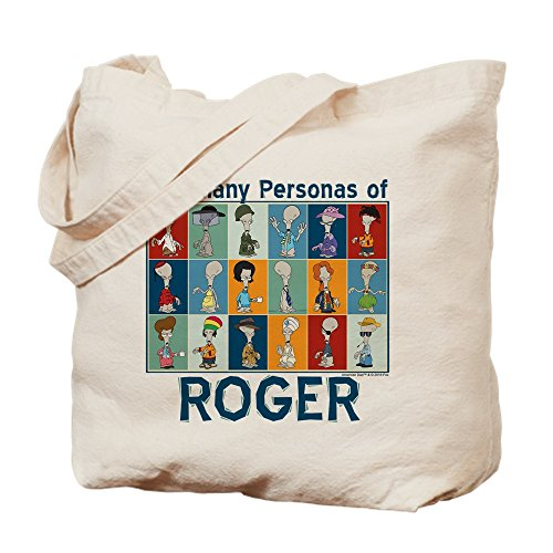 CafePress American Dad Roger personas–Leinwand Natur Tasche, Reinigungstuch Einkaufstasche, canvas, khaki, M