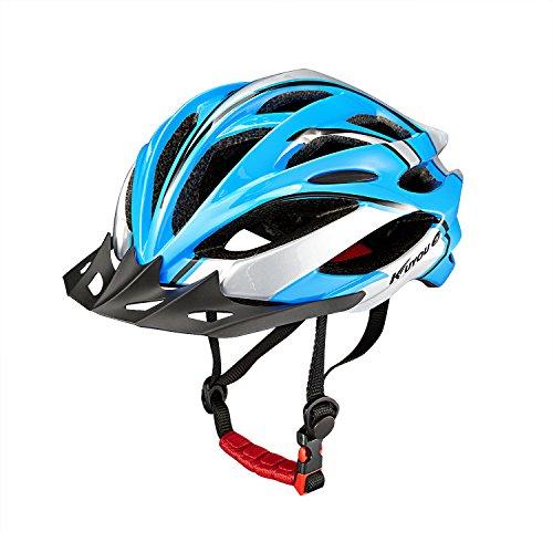 Unisex Erwachsene Fahrradhelm Radhelm Mountainbike Fahrrad Helm für alle Herren Damen Radfahrer Blau