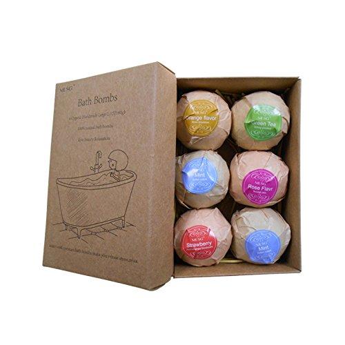 Elegantstunning Sale da bagno organico fatto a mano in schiuma per donne relax & aromaterapia il miglior regalo 6 pezzi/set