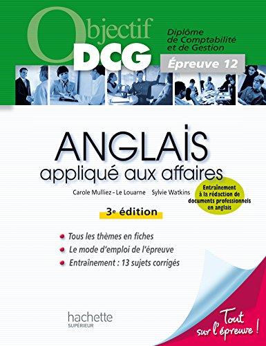 Objectif DCG - Anglais appliqué aux affaires par Sylvie Watkins