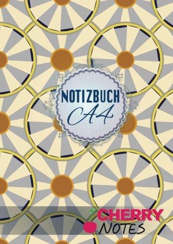 Notizbuch A4: Notizbuch | Notebook | Blankobuch | Format DIN A4 - 152 freie Seiten Leer / Punktiert- Weiß- Inklusive Register Index Original Cherry Notes Notizbuch | Design Citrus