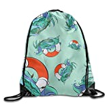 Drempad Tunnelzug Rucksäcke, Fisherman Cartoon Unisex Waterproof Backpack Ort Drawstring Bags.