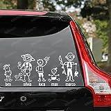 1 PERSONAGGIO - FamilyStickers GLI ORIGINALI ADESIVI FAMIGLIA ON BOARD FAMILY STICKERS VETRO AUTO LOLLOMOTO - OLTRE 150 PERSONAGGI da SCEGLIERE | FIAT PANDA 500 CINQUECENTO GRANDE PUNTO BRAVO CROMA QUBO DOBLO IDEA SEDICI 500c 500L 500X