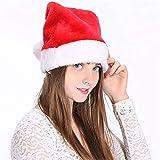 Duoguan 2 Gorros de Papá Noel de Felpa, Adultos y niños, Adorno de Navidad