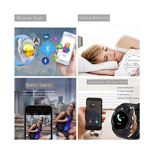 catshin SmartWatch ios android Wear con SIM Card Slot Cámara reloj Smart Watch podómetro Fitness Tracker Watch Pulsera… 3