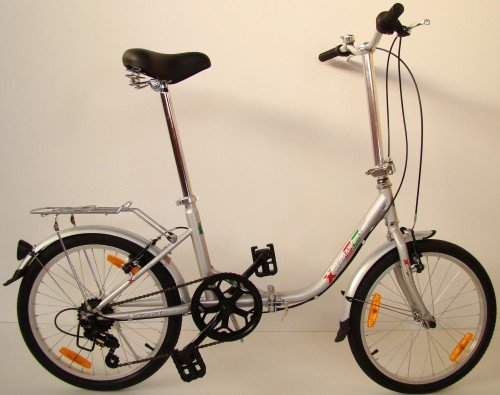 51QFn fojnL - GermanXia Comfort Folding Bike 20 Inch 1-Speed with Backpedal Brakes