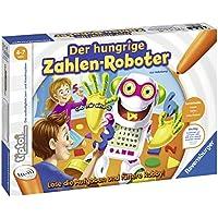 """Ravensburger tiptoi Spiel """"Der hungrige Zahlen-Roboter"""" - 00706 / Formen und Zahlen bis 20 lernen: Spannendes Lernspiel für Kinder von 4 - 7 Jahre"""