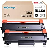 MyCartridge 2 Pack TN-2420 ucce di Toner Compatibili Brother TN-2420 per Brother HL-L2350DW DCP-L2530DW HL-L2370DN MFC-L2710DN HL-L2370DN HL-L2375DW MFC-L2710DW