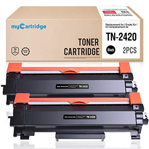 MyCartridge 2 Toner Kompatibel Brother TN-2420 TN2420(Mit Chip) für Brother HL-L2350DW DCP-L2530DW HL-L2370DN MFC-L2710DN HL-L2370DN HL-L2375DW MFC-L2710DW