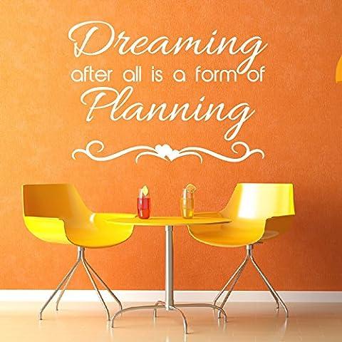 Sognando After All Is A Wall Sticker Modulo Citaziones evocative Adesivo Art disponibile in 5 dimensioni e 25 colori Medio Bianco