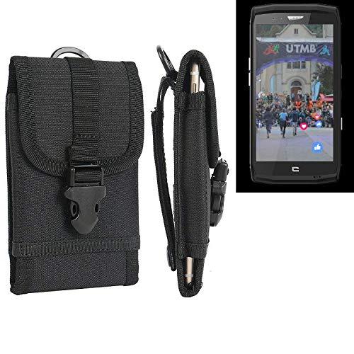 K-S-Trade Handyhülle kompatibel mit Crosscall Trekker X4 Gürteltasche Handytasche Gürtel Tasche Schutzhülle Robuste Handy Schutz Hülle Tasche Outdoor schwarz