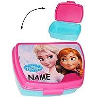 """Preisvergleich für """" Disney die Eiskönigin """" - Lunchbox / Brotdose - incl. Name - völlig unverfroren Elsa Arendelle - Früchstücksbox / Brotbüchse - Frozen - Kinder Vesperdose - Vesperbrotdose - Prinzessin Olaf - Küche Essen für Mädchen - Vesperbrotdose"""