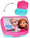 alles-meine.de GmbH Lunchbox / Brotdose -  Disney die Eiskönigin - Frozen  - Incl. Name - Früchs..