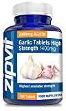 Garlic Tablets 1400mg Highest Strength | 2100mcg Allicin per tablet with added Vitamin B1 | Supports Heart Health | 180 Tablets | 6 Months Supply by Zipvit