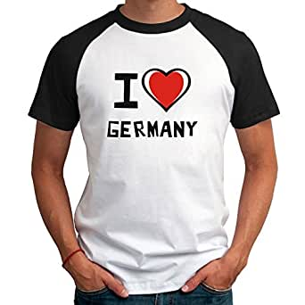 Maglietta Raglan I love Germany