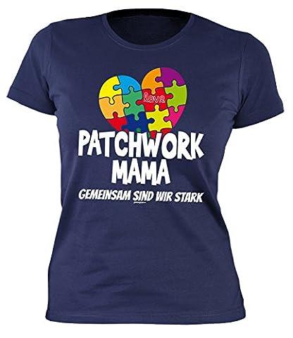 Damen T-Shirt: Patchwork Mama gemeinsam sind wir stark (Familien Gemeinsam Auf Weihnachten)