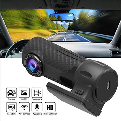 SMFYY Mini 1080P Auto-Fahrenrecorder, WiFi HD Auto-Überwachung, versteckte Installation, mit Schwerkraft Sensing/Bewegungserkennung/Loop-Aufnahme