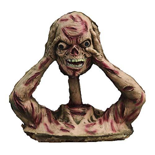 WYBXA Horror Manos, Cabezas, Fantasmas, Cicatrices, Fantasmas Calvos, Accesorios De Miedo De Halloween, Casa Embrujada, Ornamentos Secretos De Escape De La Casa,Picturecolor